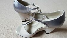 TOD's Wedges/Sandals – Silver & Taupe.  Fabulous.  Great Condition.  Size 37.5