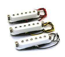 Set of 3 - White Hex Pole Single Coil Pickups for Fender Stratocaster Strat®
