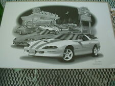 "97 30th anniversary Camero SS, Thom SanSoucie, Hand Signed Print, 11"" x 17"""
