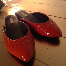 BN Bottega Veneta Leather Flat Shoes Size EU 37, UK 4