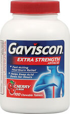Gaviscon Extra Strength Chewable Antacid Tablets, Cherry  100 ea