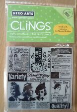 Hero Arts Cling Rubber Stamp - Variety and Quality, CG190, Vintage Ads. New