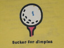 LIFE IS GOOD WOMENS S/S SUCKER FOR DIMPLES  GOLF BALL T-SHIRT SIZE M