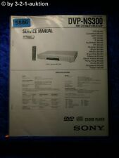 Sony Service Manual DVP NS300 CD/DVD Player (#5586)