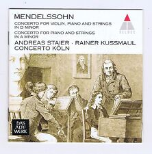 MENDELSSOHN CD CONCERTO FOR PIANO & STRINGS/ FOR VIOLIN/ ANDREAS STAIER