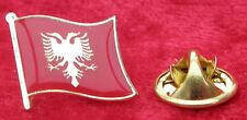 Albania Albanian Country Flag Lapel Hat Cap Tie Pin Badge Brooch