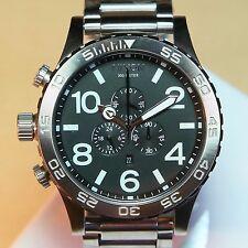 US NEW NIXON 51-30 Chrono Silver / Black Watch A083-000 A083000 MEN GIFT SALE!