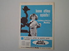 advertising Pubblicità 1962 GELATO COPPA DEI PICCOLI MOTTA