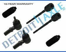 NEW 6pc Inner and Outer Tie Rod End + Boot Kit for Ford Tempo Mercury Topaz