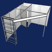 Messestand Eckstand 3 x 4 Meter  mit Messeregale Messebausystem  Modul 3