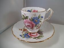 Vintage Aynsley Fine English Bone China Teacup Tea Cup & Saucer Flowers