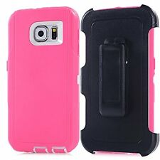 For Samsung Galaxy S6 Defender Cover Protective Case w/Clip & Screen Protector