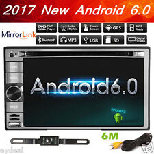 "Radio GPS Navi Android 6.0 WIFI HD 6.2"" Double 2DIN Car Stereo DVD Player+Camera"
