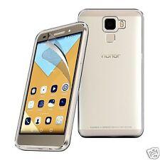 Tough Thin Clear TPU Gel Case Cover & Screen Guard for Huawei Honor 7