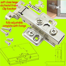 Soft Close Cabinet Door Hinge Hydraulic FOR ALUMINIUM/METAL FRAME Clip-on 35mm