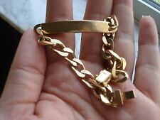 18KT SOLID  GOLD NAME TAG  BRACELET 34.4 GR-GORGEOUS, MADE IN ITALY.