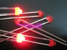 100pcs, 1.8mm Red Diffused LED 1000MCD Leds Light Bulb + Resistors for 9V 12V DC