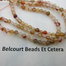 475-500 Mixed Reds and Whites 4mm Round Agate Gemstone Beads