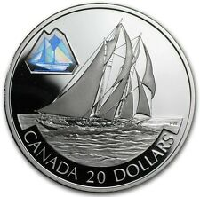 2000 Canada $20 Dollars Sterling Silver - The Bluenose - E142