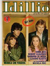fotoromanzo IDILLIO ANNO 1980 NUMERO 214 ZOLI GLIGOROV DE ROSSI ALIOTTI ROC