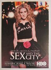 lot of 8 -  SEX and the CITY post cards HBO SEASON PREMIERE SARAH JESSICA PARKER