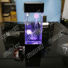 High Quality Relaxing Bedside Mood Lamp Jellyfish Aquarium Fish Tank LED Light