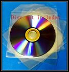 50 Premium Clear CPP Plastic CD DVD Sleeves Bag with Flap (120 Microns)