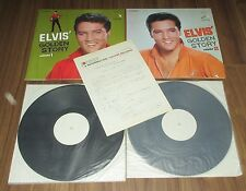 ELVIS PRESLEY Japan 1965 PROMO ONLY TEST PRESS LP x 2 set with PRESS RELEASE!