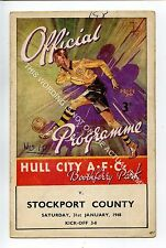 (Ga4849-469) HULL CITY vs Stockport County 1947-48 G-VG