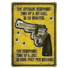 """Response Time"" Metal Sign"