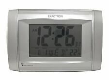 MSF Radio Controlled Digital Wall Clock Date,Day,Time,Temperature Clock