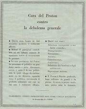 J0233 Cura del PROTON - Pubblicità formato grande del 1934 - Old advertising