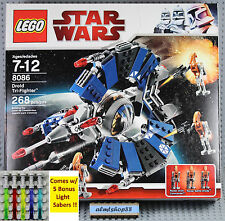 LEGO Star Wars - 8086 Droid Tri-Fighter NISB Rocket Commander Battle Minifigure