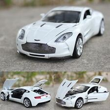 Toys Model Cars Aston Martin ONE-77 Alloy Diecast 1:32 Sound & Light White Gifts
