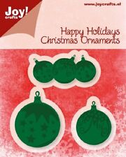 JOY CRAFTS Die Cut & Embossing Stencil HAPPY HOLIDAY CHRISTMAS BALLS 6002/2030