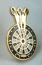 Darts and Dart board Gold Plated Quality enamel lapel pin badge