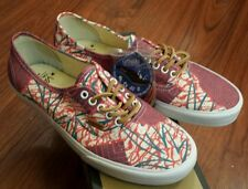 Vans Authentic CA Cali Tribe Washed Poppy Sz 5.5 NIB OTW Original Red Purple