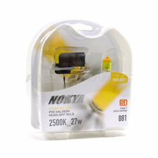 Nokya 881 Hyper Yellow Headlight Foglight Bulbs Pro Halogen 2500K 12v/27w