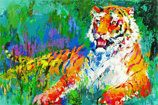 "LEROY NIEMAN'S ""THE RESTING TIGER"" - CROSS STITCH CHART"