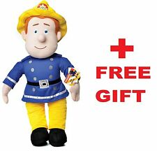 "OFFICIAL BRAND NEW 17"" FIREMAN SAM PLUSH SOFT TOY TEDDY FIREMAN SAM + FREE GIFT"
