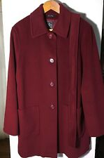 CINZIA ROCCA Deep Red Cashmere Wool Winter Coat 44 10 8 Perfect Made in Italy
