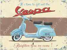 Vespa Scooter Metal Sign