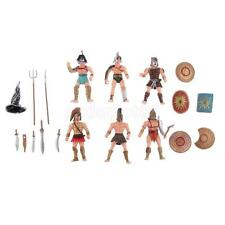 Pack of 6 Ancient Roman Gladiator Medieval Warriors Action Figure Models Toy