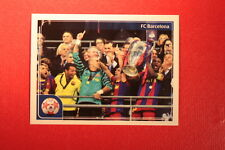 PANINI CHAMPIONS LEAGUE 2011/12 N 549 BARCELONA VICTORY WITH BLACK BACK MINT!!