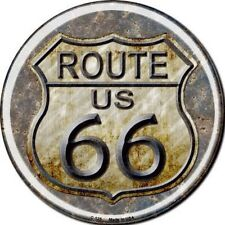 SUPERBE PLAQUE DECORATIVE ROUTE 66 - 30CM - DECORATION USA /WESTERN / BIKER
