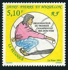 St Pierre & Miquelon 598, MNH. Petanque World Championships, 1994
