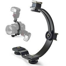 360 C-Shape Bracket Stand for LED Video light Flash DC DSLR SLR DV Camcorder