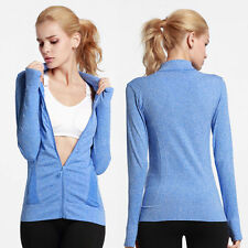 New Women Quick-dry Gym Fitness Running Sports Coat Jogging Yoga Zip-up Jackets