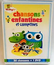 coffret neuf BABY TV * Chansons enfantines et comptines (2 CD + DVD) new box set