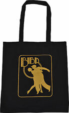 BIBA BLACK COTTON TOTE BAG ART DECO NOUVEAU GOLD KENSINGTON VINTAGE